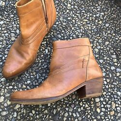 Vtg Thom Mcan Saddle Leather Pointy Hipster Beatle Biker Motorcycle Boots 9.5
