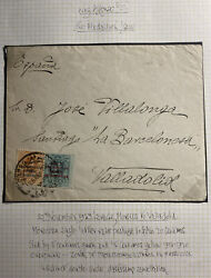 1923 Larache Morocco Spanish Protectorate Cover To Valladolid Overprinted Stamp