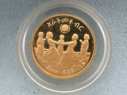 1972 Ethiopia 400 Birr Proof Gold Coin, Uc, International Year Of The Child