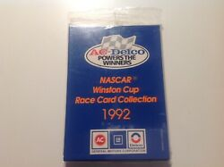 New Ac Delco 1992 Nascar Winston Cup Race Card Collection - Sealed 10 Sets