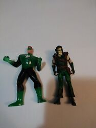 Dc Action Figures Lot Of 2 Used Items Comic Books Green Arrow And Lantern