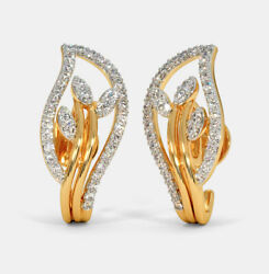1.56ct Natural Round Diamond 14k Solid Yellow Gold Screw Back Stud Earring