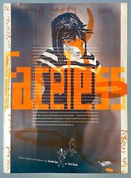 Very Rare Early 90's Emigre Magazine Poster / Hand Signed By Rudy Vanderlans