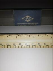Vintage Drafting Engineering Graphic Art Germany Triangular Scale Ruler Alvin