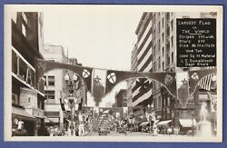 1931 Knights Templar Conclave In Mn, Largest Flag In World On Donaldson's Store