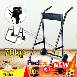 Foldable Outboard Motor Trolley Boat Engine Carrier Stand Transport Wheel Cart