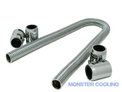 1939 Ford Car Radiator Hose Kit 48 Chrome With 4 Couplings/fits 4001fd Cc400