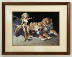 Mission Earth By L. Ron Hubbard - The Countess By Frank Frazetta Signed Ltd Art