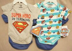 SUPER HERO IN TRAINING OR PAW PATROL SET OF 2 one piece