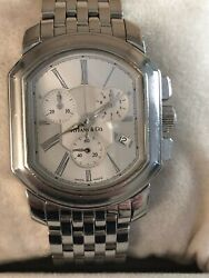And Co. Mark Coupe Quartz Chronograph Men's Watch In Stainless Steel