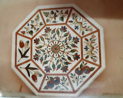 3and039x3and039 Marble Dining Coffee Center Table Top Mosaic Inlay Malachite Fh37