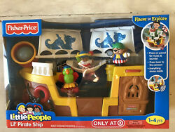 Fisher Price Little People Lil Pirate Ship Kid Treasure Boat Target Exclusive