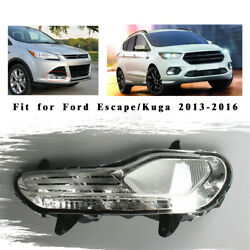 Right Front Bumper Fog Light Without Bulb Parts For Ford Escape Kuga 2013-16