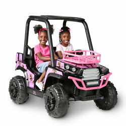 Girls Ride On Jeep 24v Utv Realtree Graphics Mp3 In Lights Car Electric Toy Pink