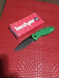 Kershaw Blur Spider Web Handle Green 1670spgrn Cpm154 Steel New Made In Usa