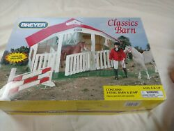 Breyer Classics Barn 720650 New 3 Stall Horse Toy Set Building Red Roof Jump