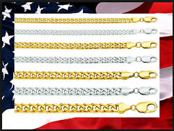 14k Solid Gold Classic Miami Cuban Chain Length From 8.5 To 30 Inch / C0037 /