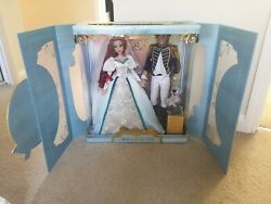 Disney Store Little Mermaid Wedding Ariel And Eric Limited Edition 17 Doll Set