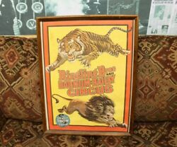 1970's Ringling Bros And Barnum And Bailey Greatest Show On Earth Circus Poster