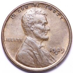 1929-s Lincoln Wheat Cent Penny Choice Unc Free Shipping E781 Ace