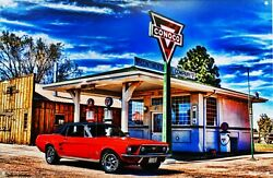 Conoco Station / Mustang Metal Sign