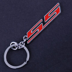 Chrome Ring Keychain Finish Fit For Chevrolet Chevy Super Sport Ss Key Chain Fob