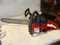 Craftsman 42cc Gas Chainsaw 18 Bar Chain Saw Complete Needs Carb Cleaned