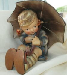 Hummel Umbrella Girl Figurine 152b Tmk-2 Full Bee Home Decor Statue Vintage Euc