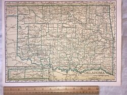 Old Cramandrsquos Oklahoma Business-manandrsquos Atlas Map Railroads And More Ship Free