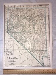 Old Cramandrsquos Nevada Business-manandrsquos Atlas Map Railroads And More Ship Free