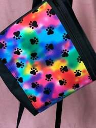 Puppy paws Tie-Dye Crossbody Purse Bag Handbag Pink Kiss Purses Shoulder Bag  $35.00