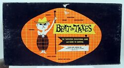 Vintage Beat The Taxes Board Game Obscure Rare Family 1957 Educational Finance
