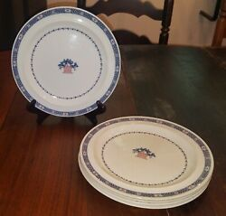 Vtg Set Of 5 Wedgwood Etruria Boston Pattern 9 Luncheon Plates Discontinued