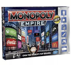 Monopoly Empire Board Game 2014 Discont/rare Collectors Edit With Special Tokens