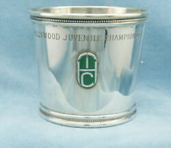 And Co.-1975 Hollywood Juvenile Championship Sterling Silver Julep Cup