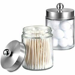 Apothecary Jars Bathroom Vanity Organizer -countertop Canister With Storage Lid