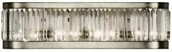 Crystal Enchantment Sconce Wall 4-light Silver Leaf Metal Multi-faceted B