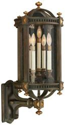 Beekman Place Wall Sconce 5-light Gold Highlights Weathered Woodland Brown