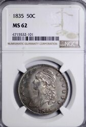 1835 Capped Bust Half Dollar Ngc Ms62 Free Shipping Wpft 4