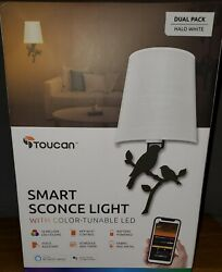 Smart Home Lighting by Toucan with Integrated LED Sconce Decorative Wall Birds