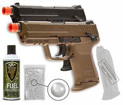 Umarex Hk 45ct Gbb Vfc Bb Green Gas Airsoft Pistol With Wearable4u Bundle