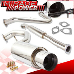 For 00-05 Eclipse 3g 4cyl 4g64 Stainless Steel Catback Exhaust Muffler System