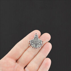 8 Chandelier Connector Antique Silver Charms SC8033
