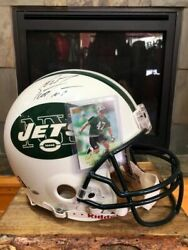 Scott Frost Signed Ny Jets Authentic Full Size Helmet W/rookie Card Ne Huskers