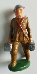 Barclay Vintage Rare Lead Toy Soldier Unproduced Ammunition Carrier Manoil