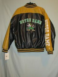 Nwt Steve And Barry's Notre Dame Faux Leather Jacket Medium