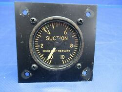 Beech G35 Bonanza Manning Maxwell And Moore Suction Gauge P/n 50-320106 0620-352
