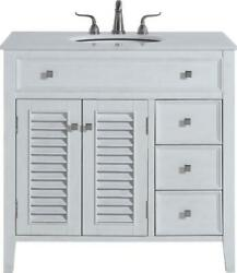 Bathroom Vanity Sink Contemporary Single Brushed Steel Antique White Brass