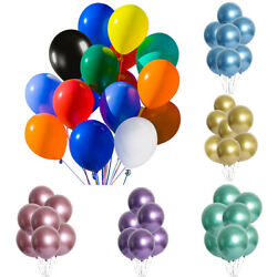 50 100PCs Metallic Latex Party Balloons 12in For Birthday Wedding Decoration $11.99