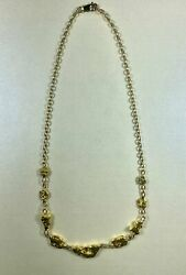 Gold Nugget Inline Necklace Orocal Ncn28.9 Genuine Hand Crafted Jewelry With 1
